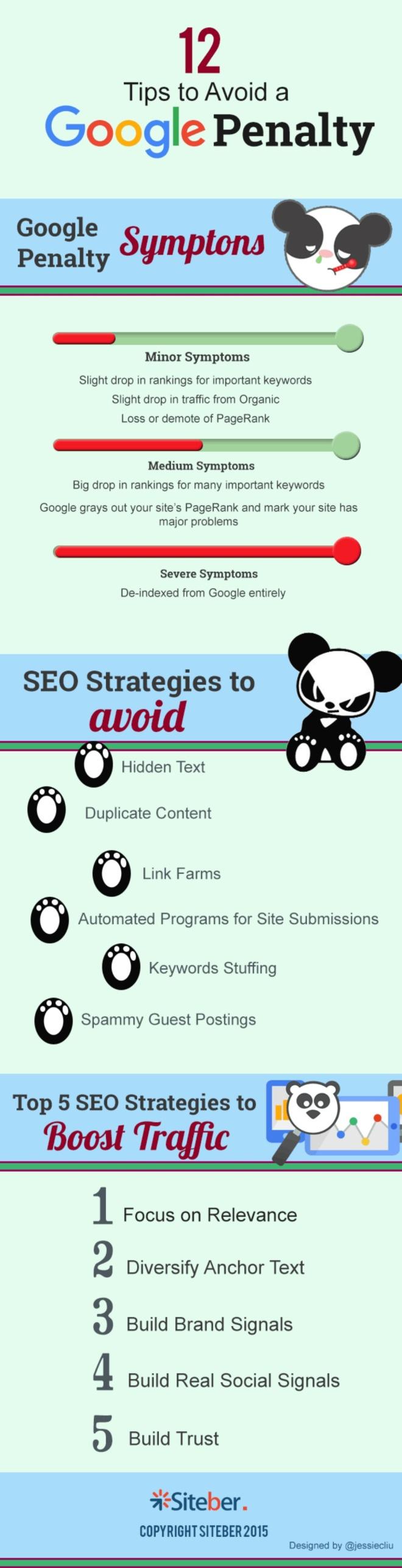 12 consejos para evitar las penalizaciones de Google12 consejos para evitar las penalizaciones de Google