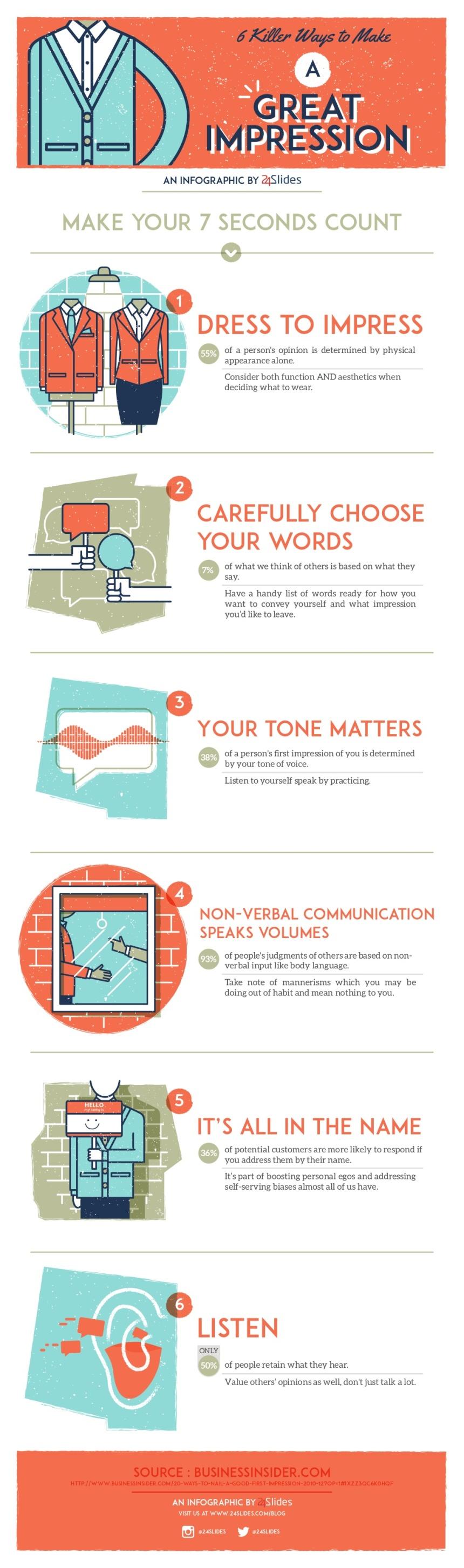 """6 maneras de """"cargarte"""" una primera buena impresión"""