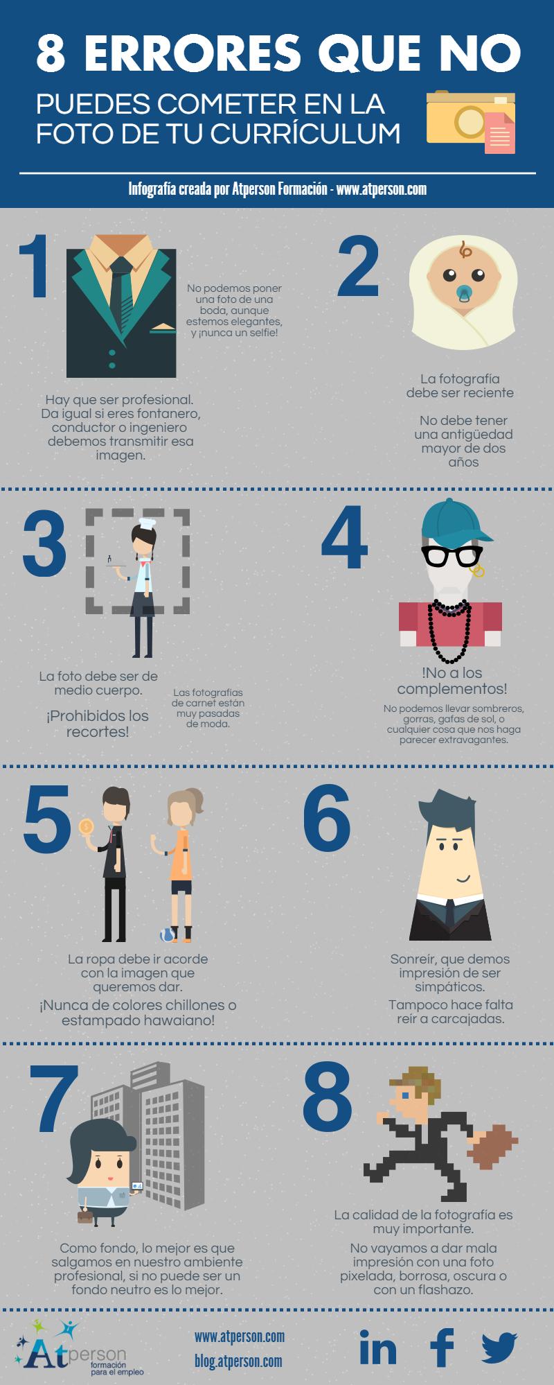 8 errores que no puedes cometer en la foto de tu Curriculum