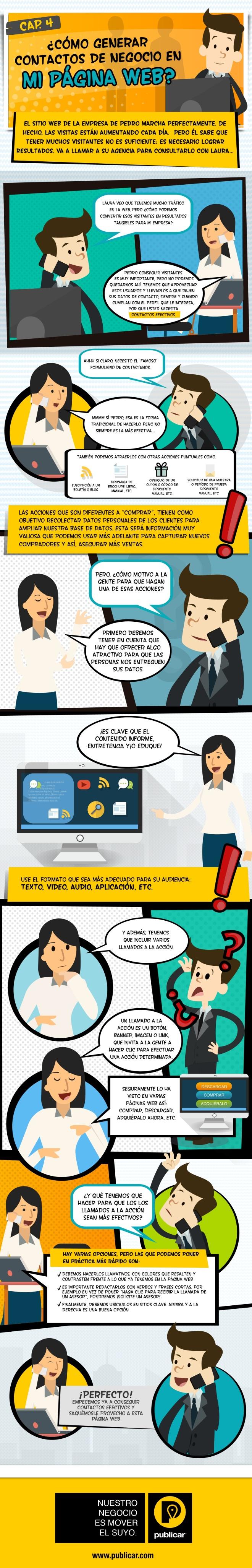 Cómo generar contactos para tu empresa en tu web