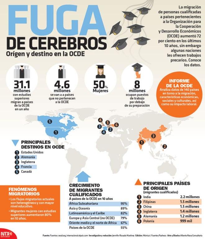 Fuga de cerebros (OCDE)