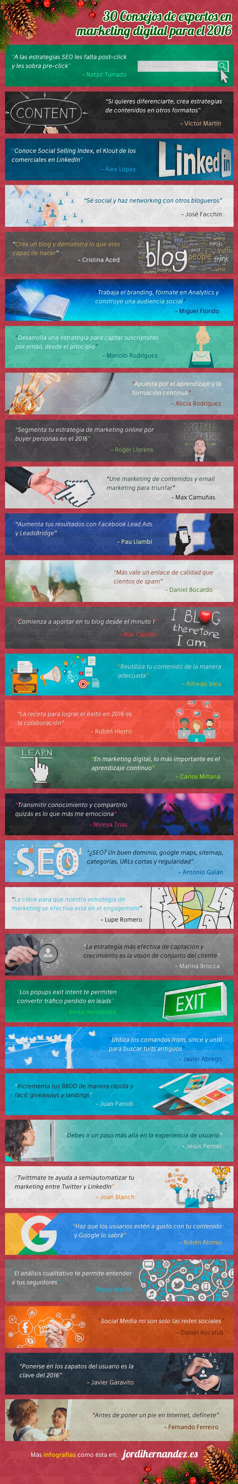 30 consejos de expertos sobre Marketing Digital