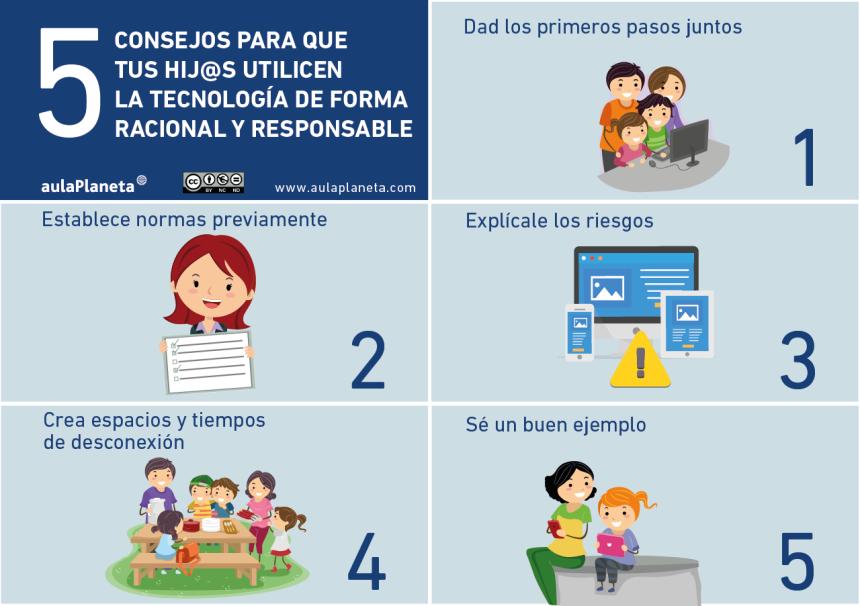 5 consejos para que tus hijos usen la tecnología de forma responsable