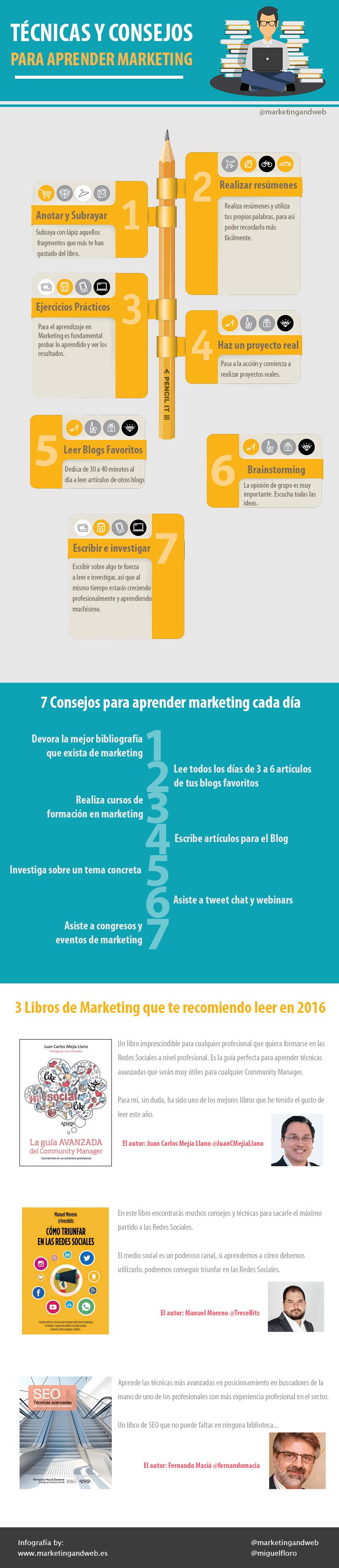 7 técnicas y 7 consejos para aprender marketing