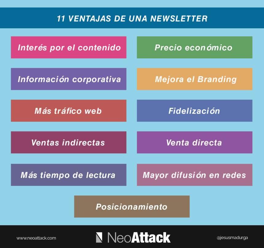 11 ventajas de una Newsletter