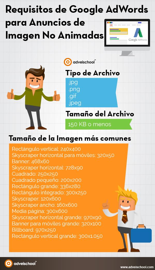 Requisitos de Google AdWords para anuncios de Imagen no animadas