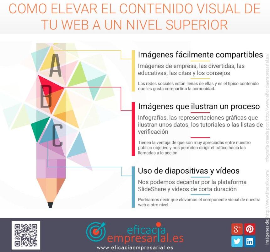 Como elevar el contenido visual de tu web a un nivel superior