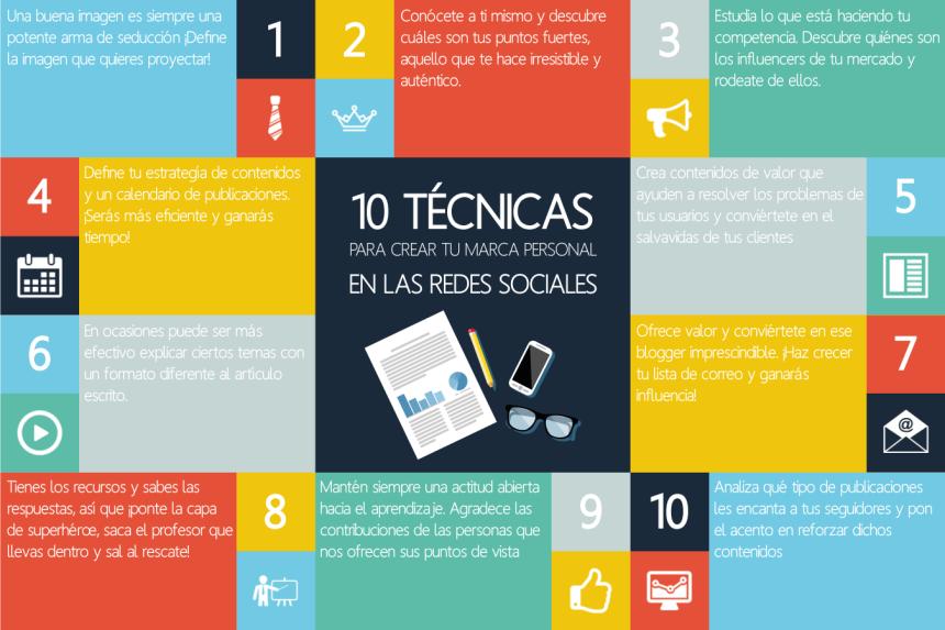 10 técnicas para crear Marca Personal en Redes Sociales