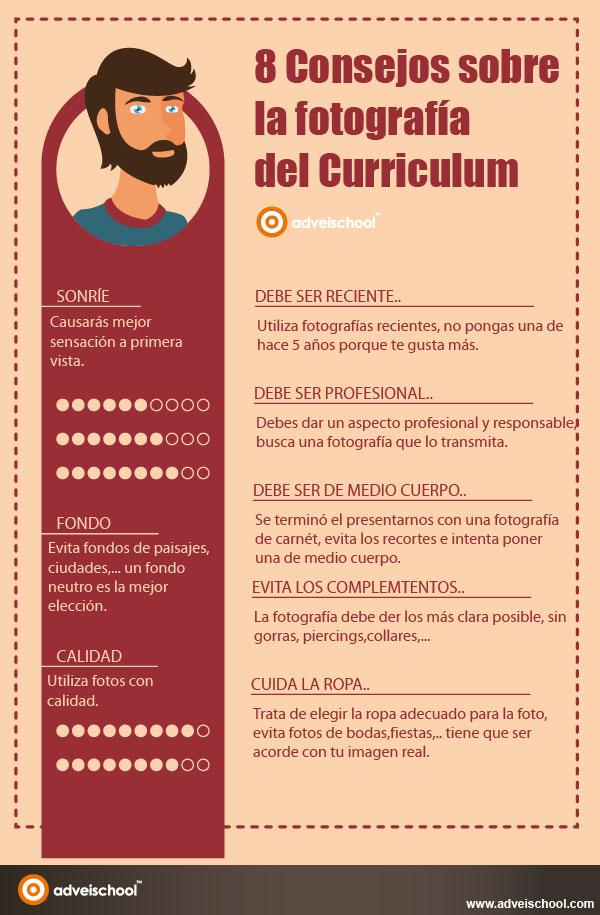 8 consejos sobre la fotograf u00eda del curriculum  infografia  infographic  empleo