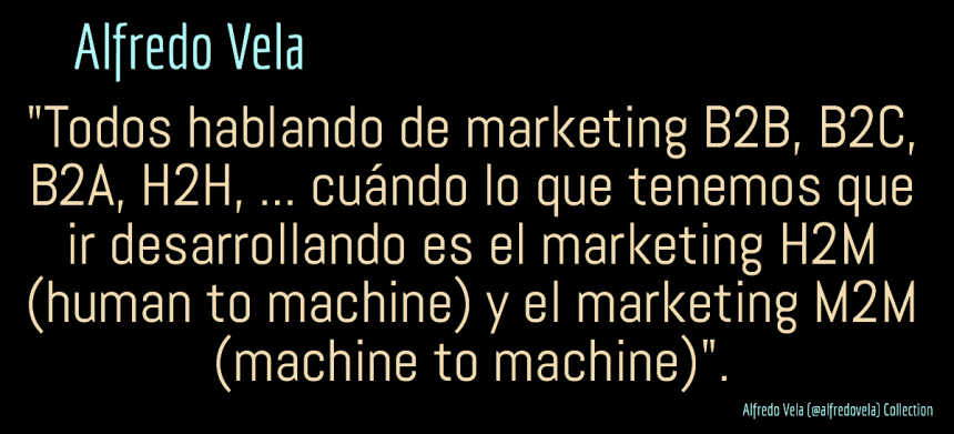 Marketing H2M (human to machine) y M2M (machine to machine) ¿el futuro?