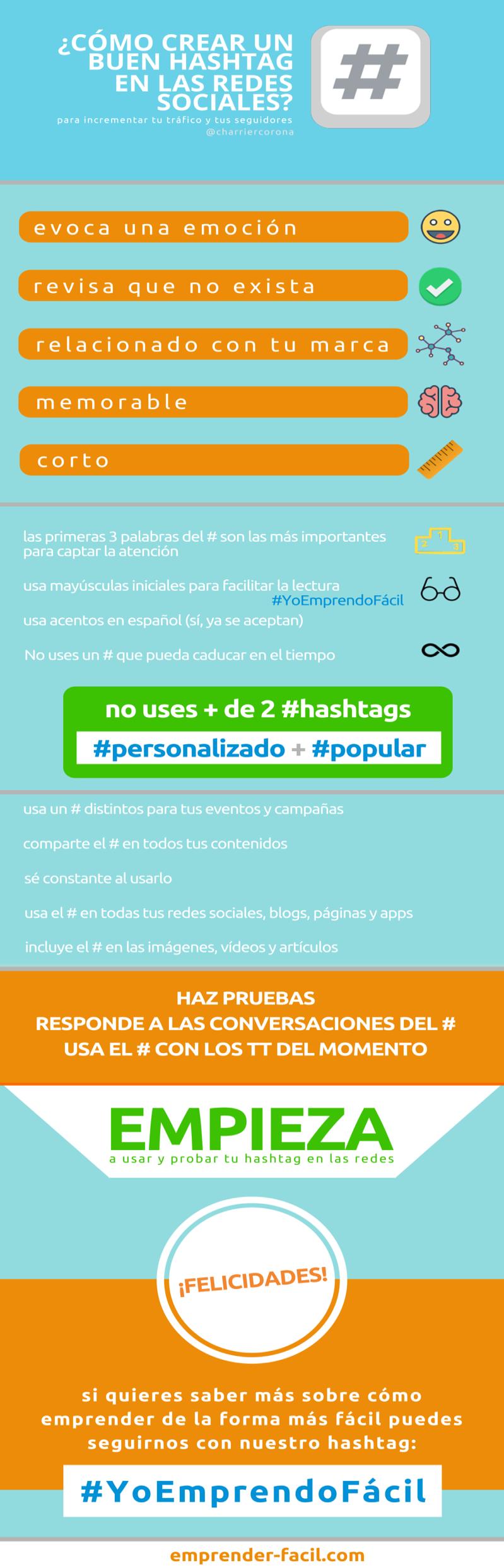 Cómo crear un buen hashtag en Redes Sociales