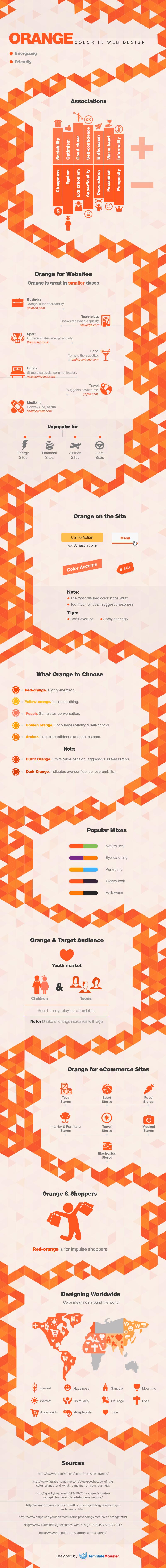 Color naranja en Diseño web