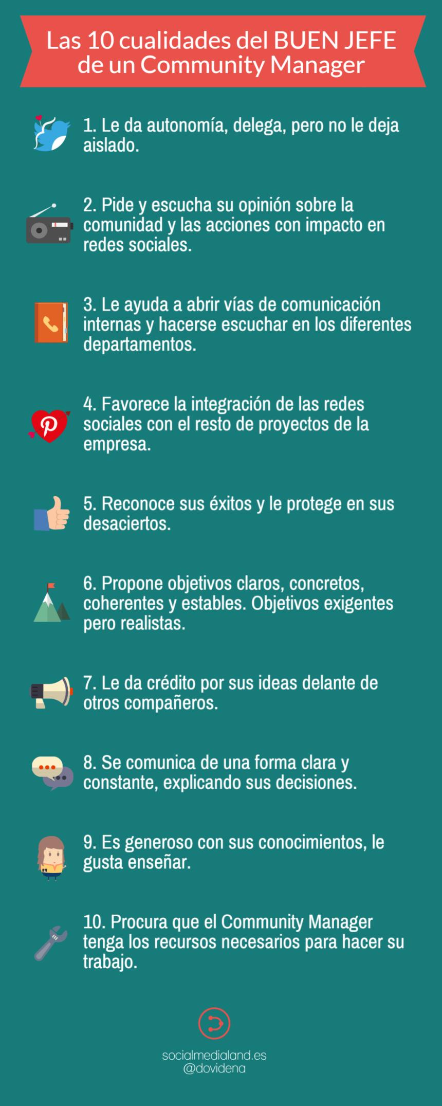 Las 10 cualidades del buen jefe de un Community Manager