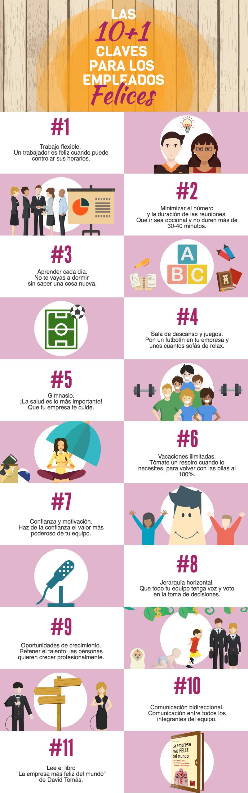 10+1 claves para tener empleados felices