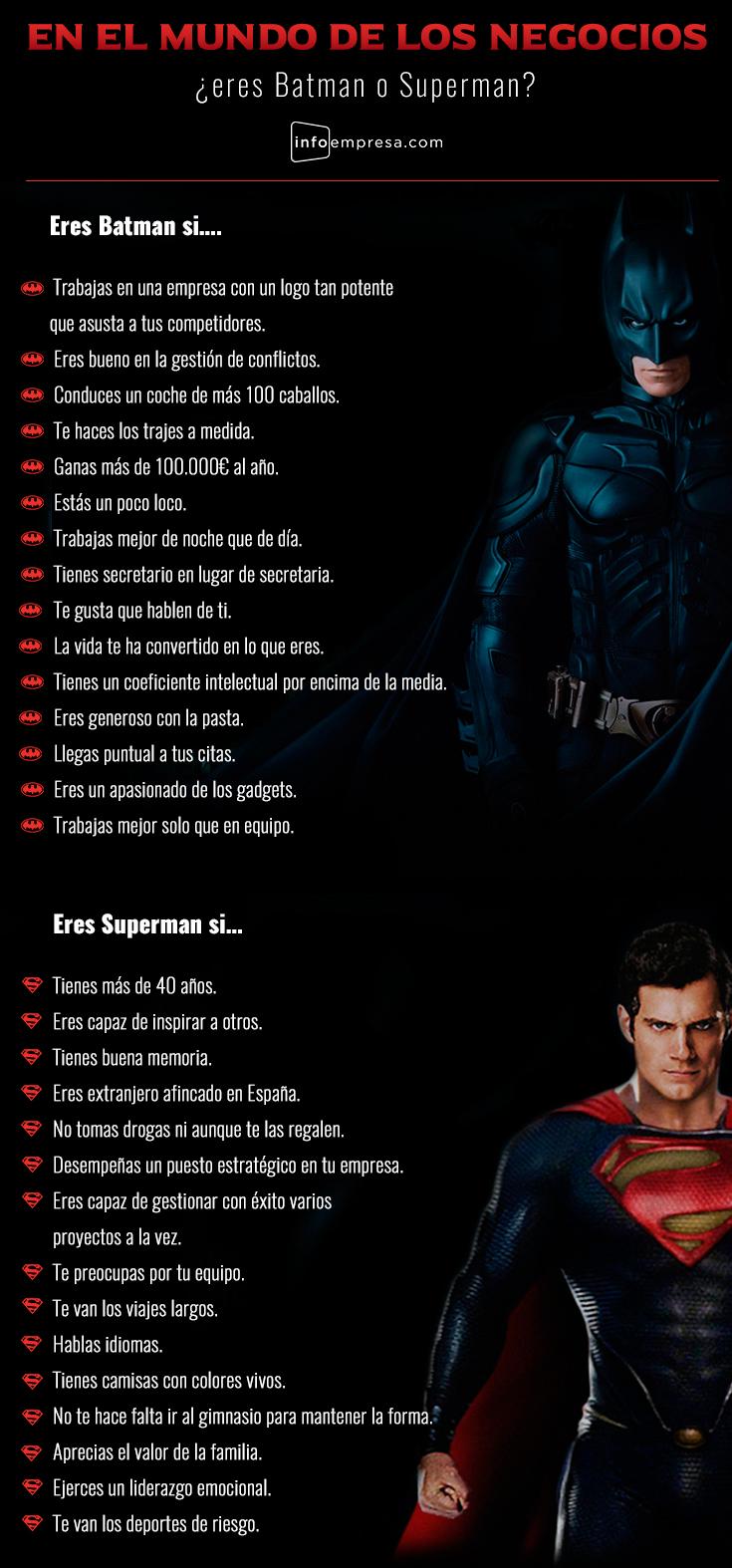 En el mundo de los negocios ¿eres Batman o Superman?