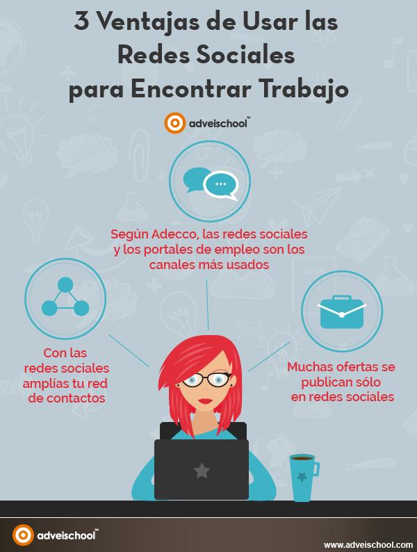 3 ventajas de usar las Redes Sociales para buscar trabajo