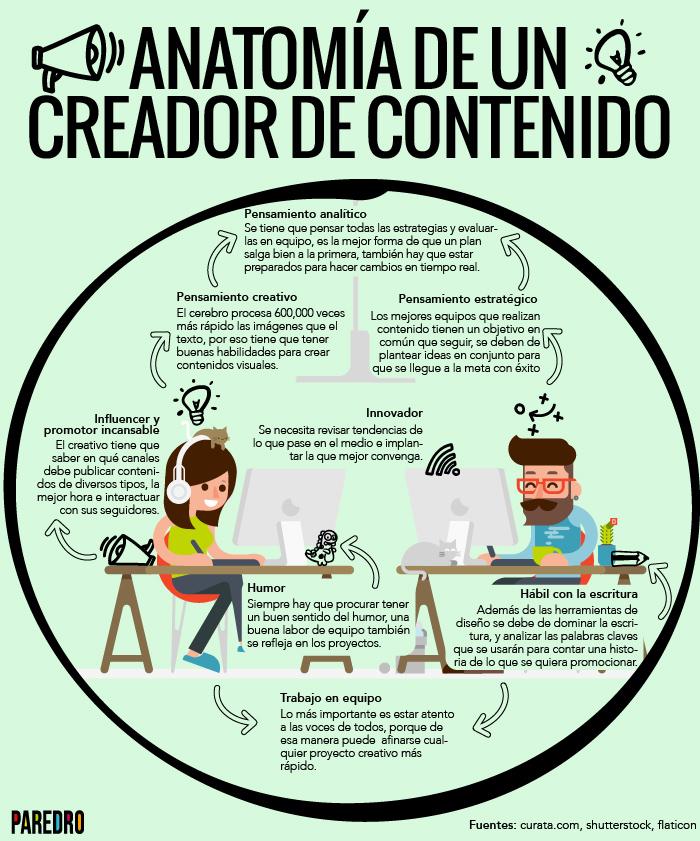 Anatomía de un creador de contenido #infografia #infographic ...