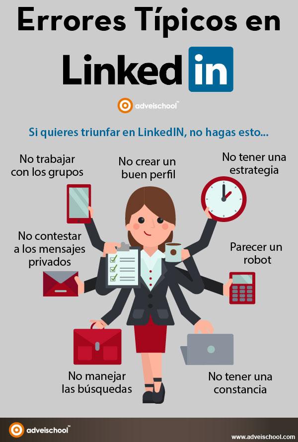 Errores típicos en LinkedIn