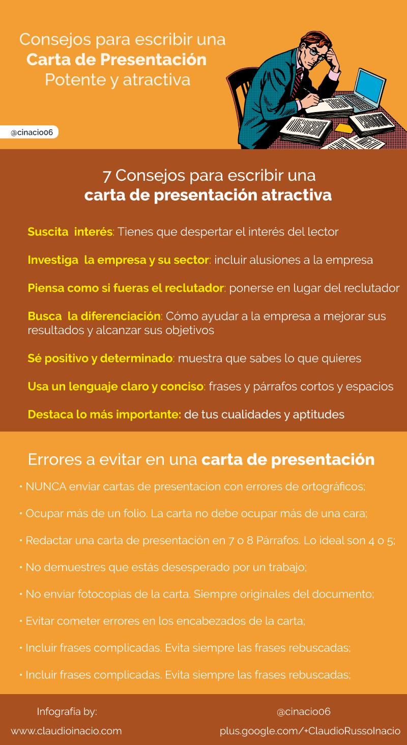 Consejos para escribir una Carta de Presentación