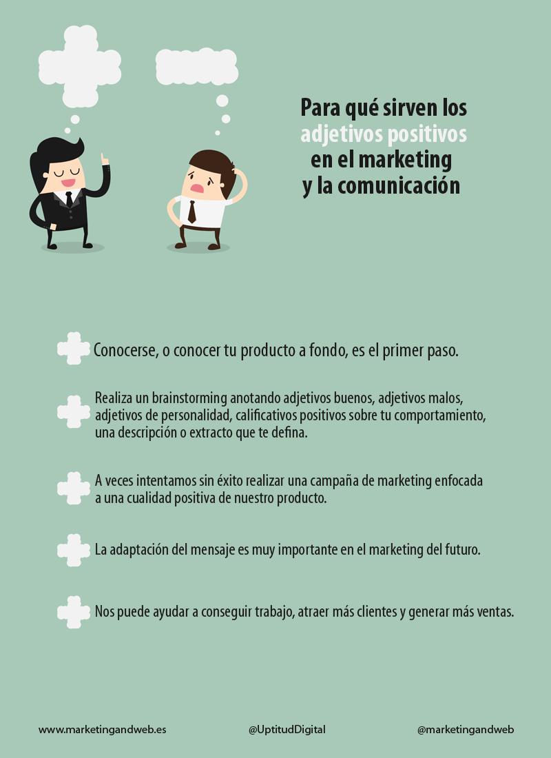 Para qué sirven los adjetivos positivos en Marketing y Comunicación