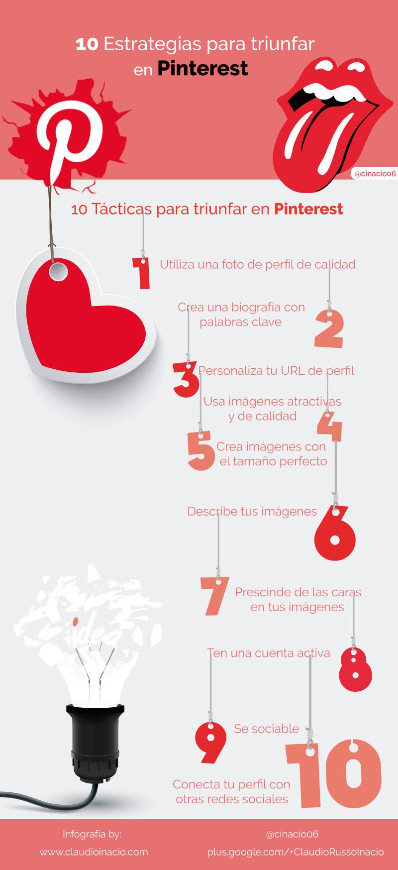 10 estrategias para triunfar en Pinterest