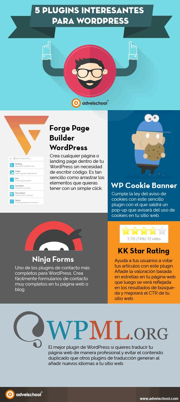 5 plugins interesantes para WordPress