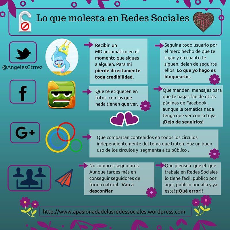 Lo que molesta en Redes Sociales