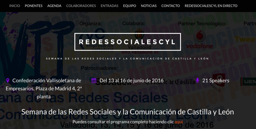 Web de la Semana de las Redes Sociales de Castilla y León