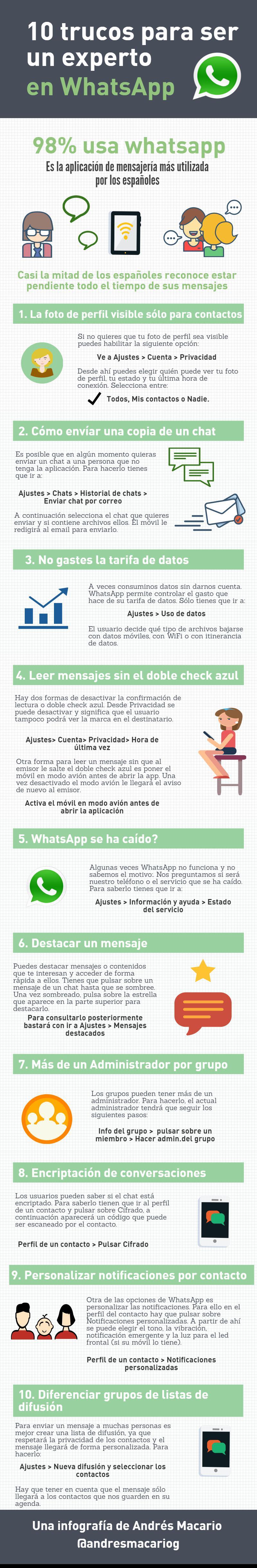10 trucos para ser un experto en WhatsApp