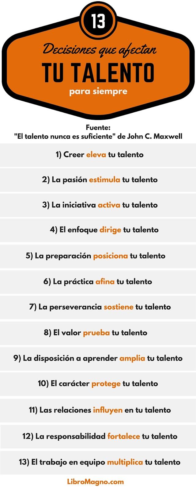 13 decisiones que afectan tu Talento para siempre