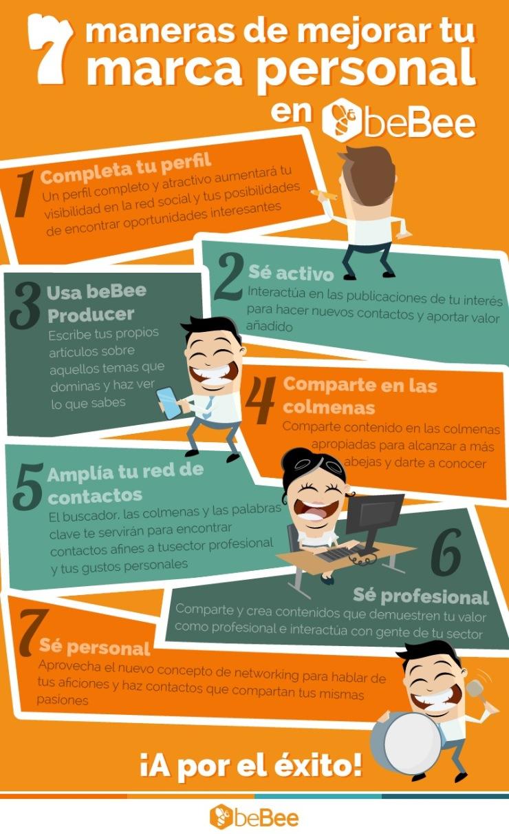 7 formas de mejorar tu Marca Personal en beBee