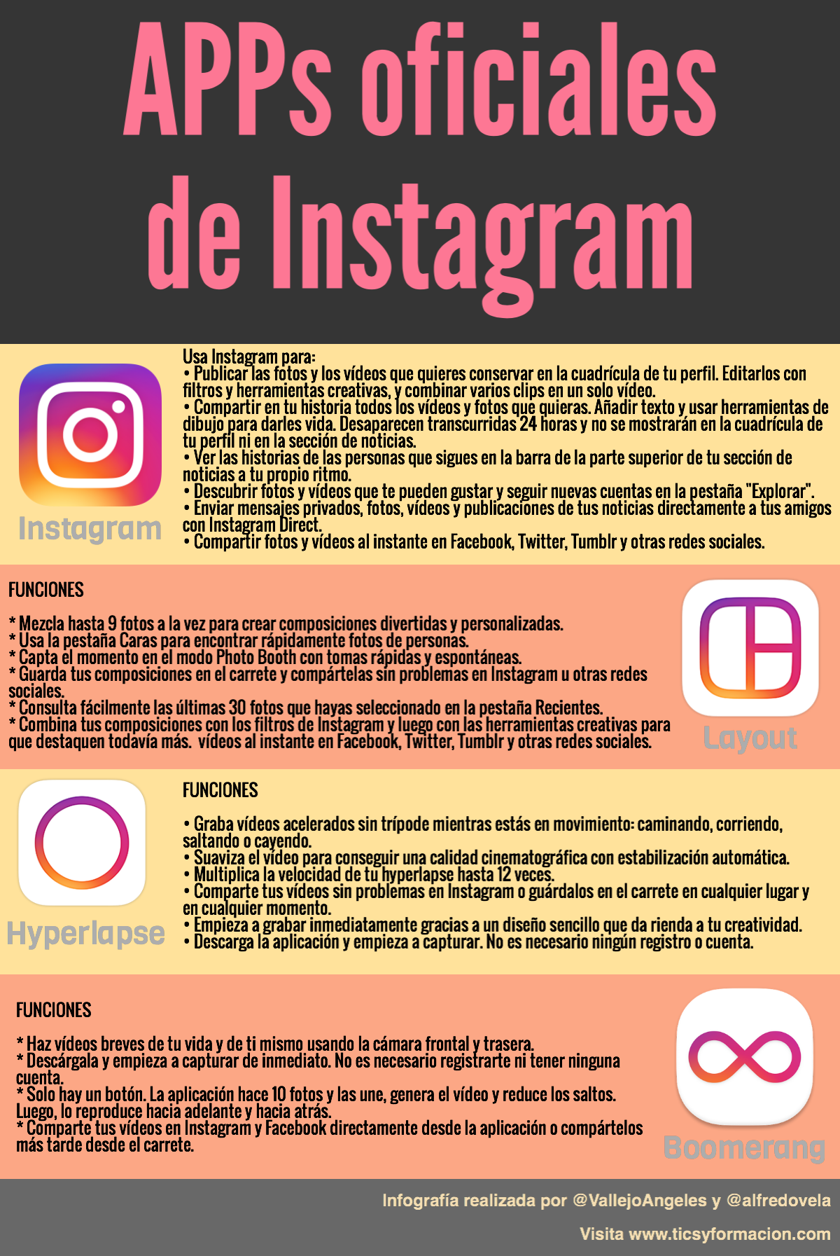 APPs oficiales de Instagram