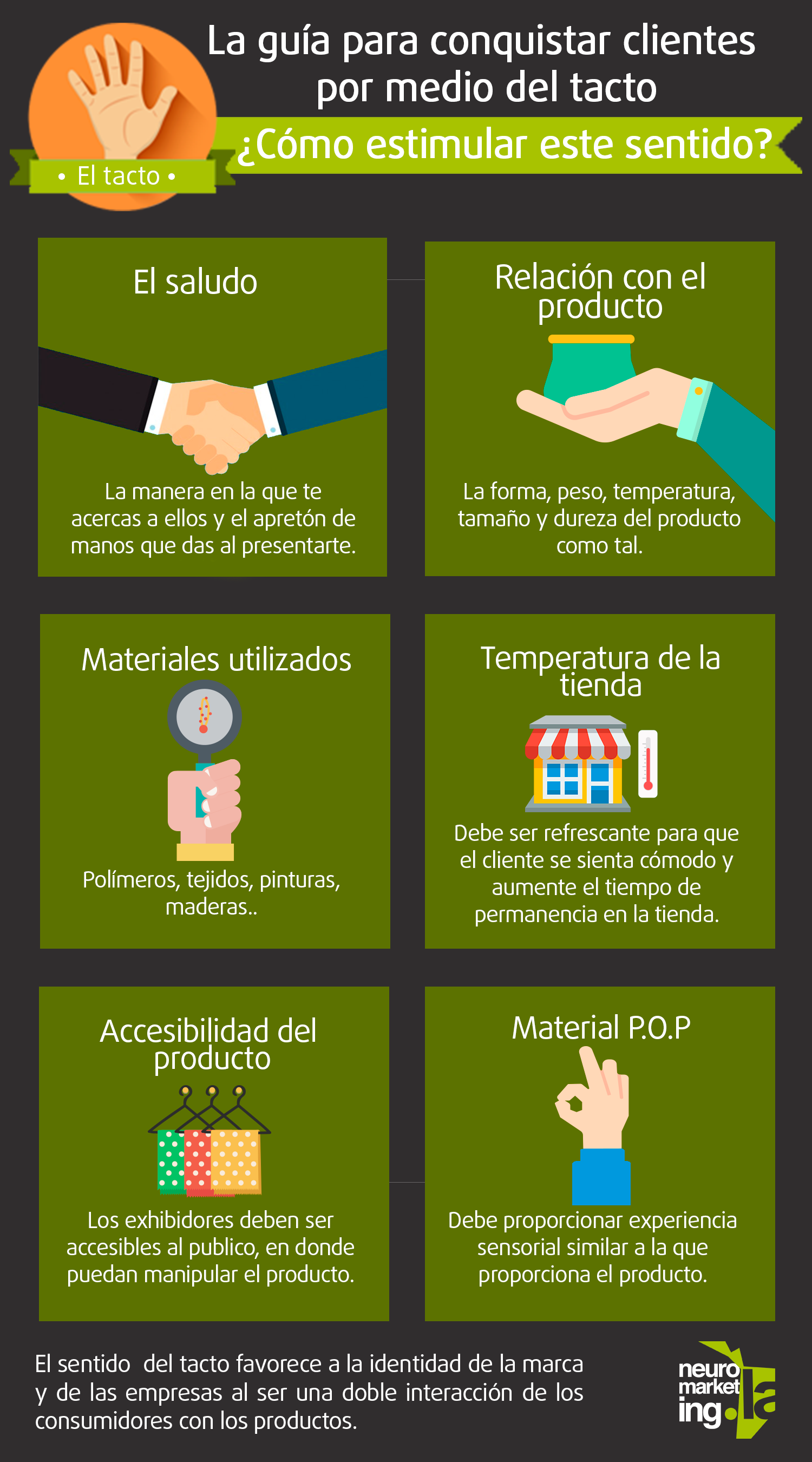 Guía para conquistar clientes por medio del tacto