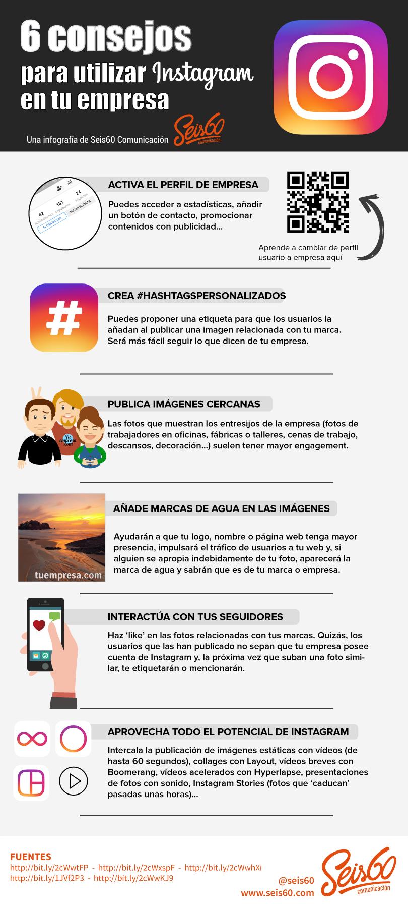 6 consejos para utilizar Instagram en tu empresa