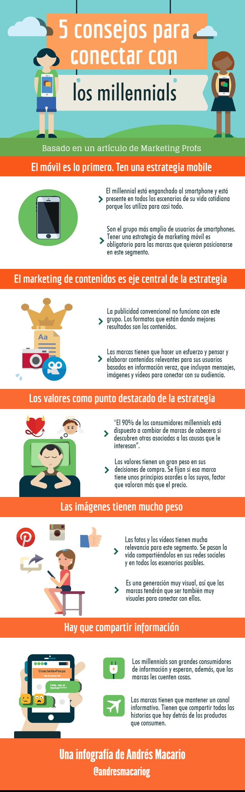 5 consejos para conectar con los millennials - Infografia Andres Macario