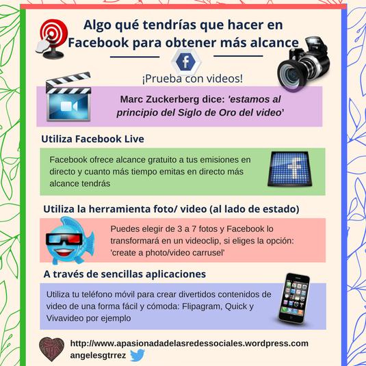 Vídeos para tener más alcance en Facebook