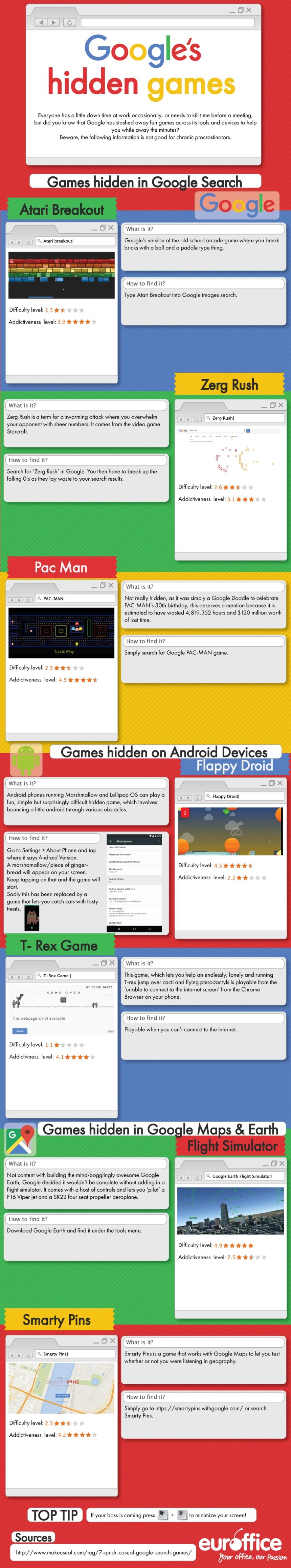 Los juegos ocultos en Google