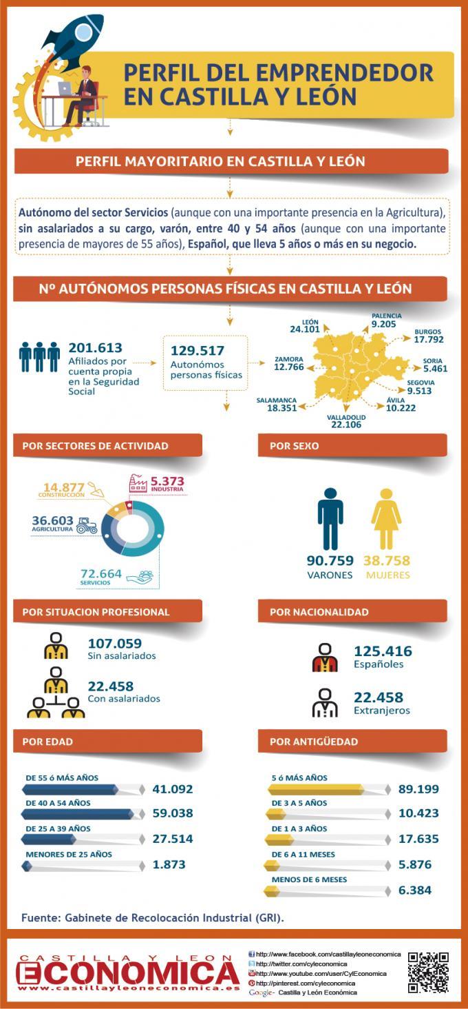 Perfil del emprendedor en Castilla y León