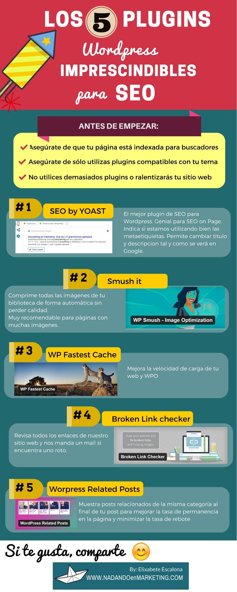 5 plugins de WordPress Imprescindibles para SEO