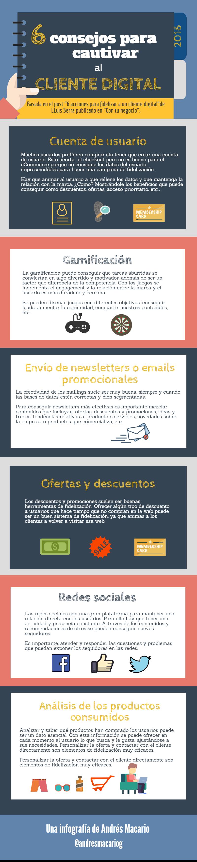 6 consejos para cautivar al cliente digital-infografia Andres Macario