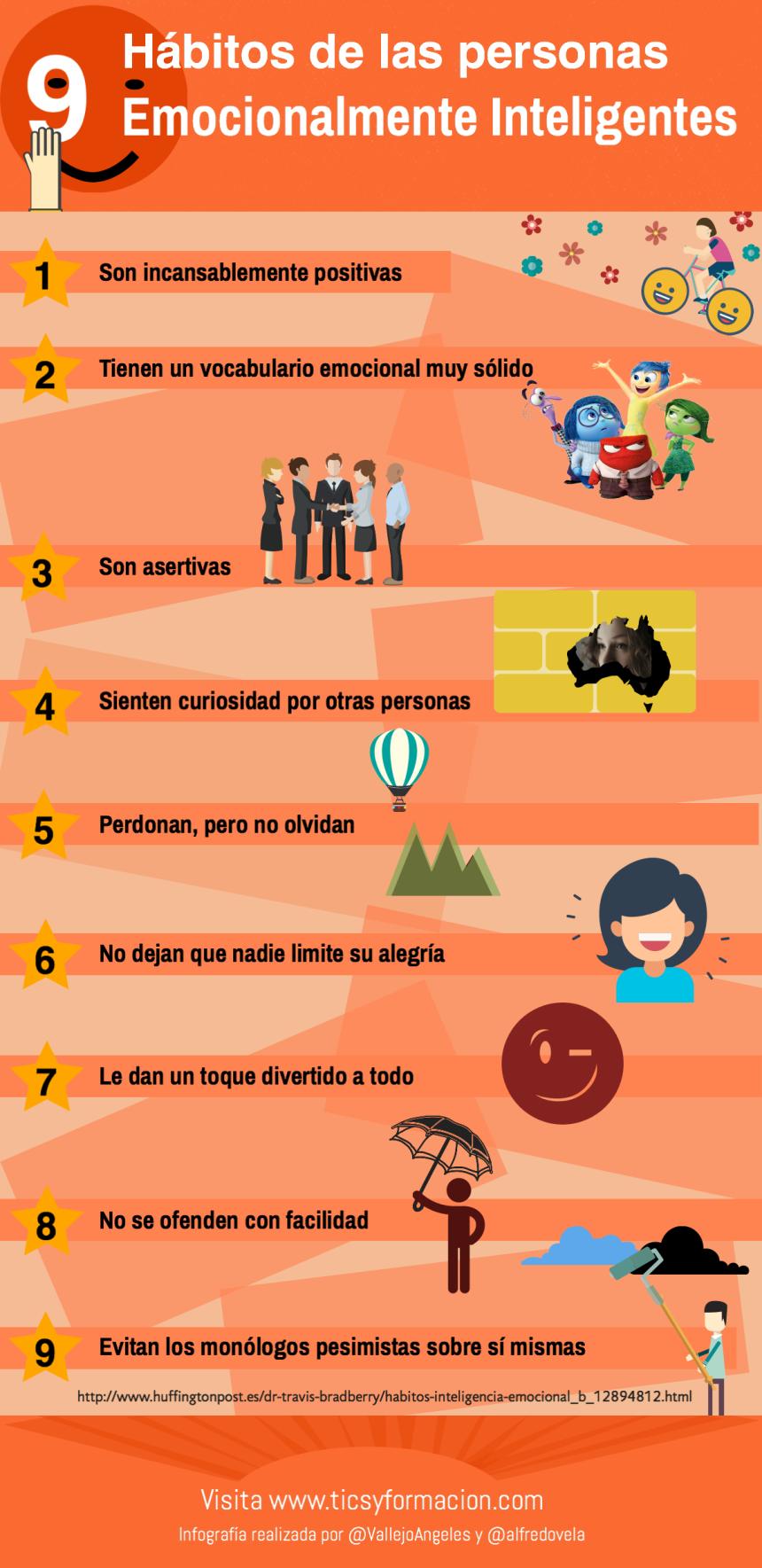 9 hábitos de las personas Emocionalmente Inteligentes