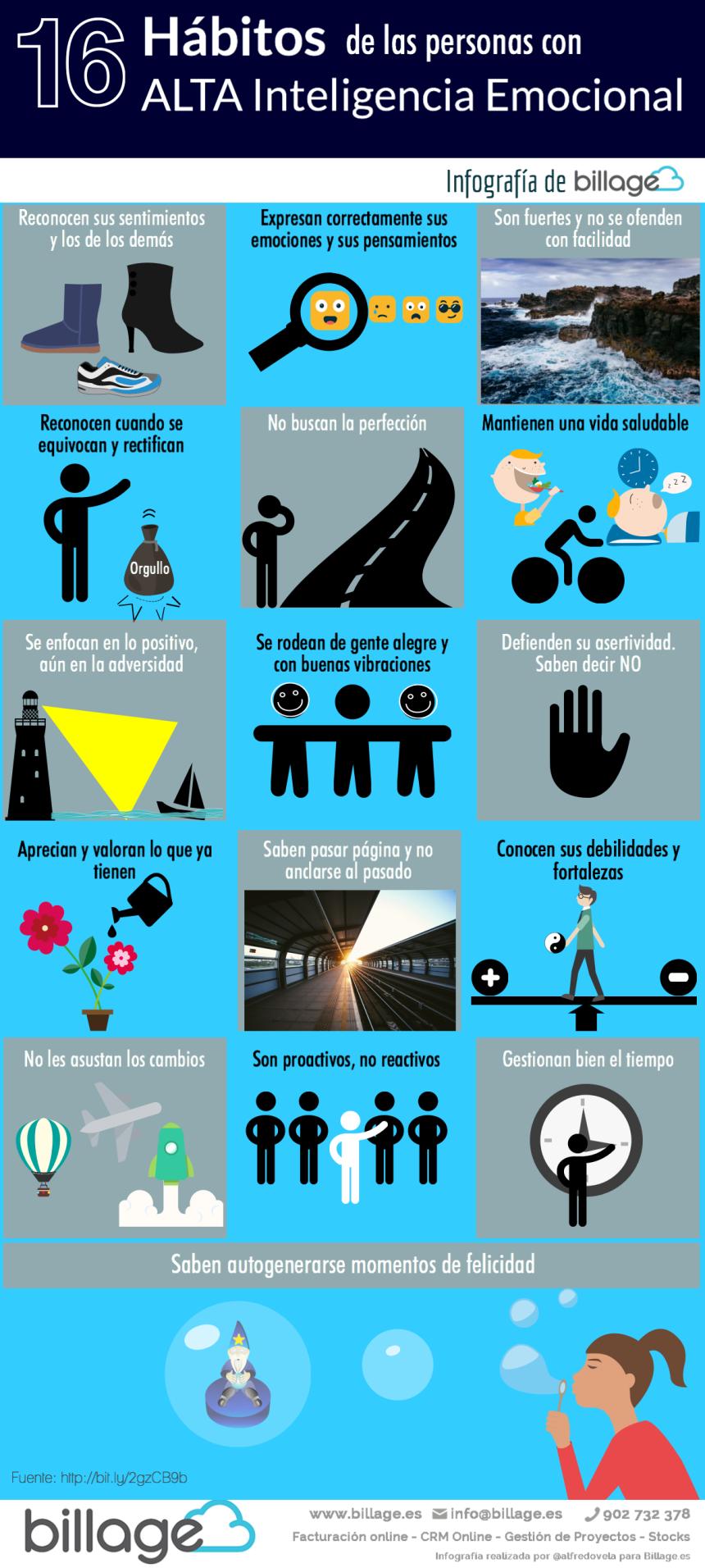 16 hábitos de las personas con alta Inteligencia Emocional