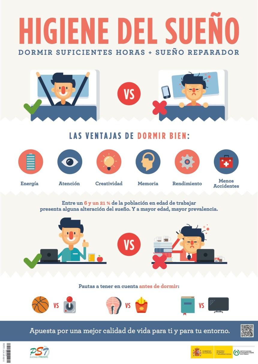 Higiene del sueño: mejora tu rendimiento en el trabajo