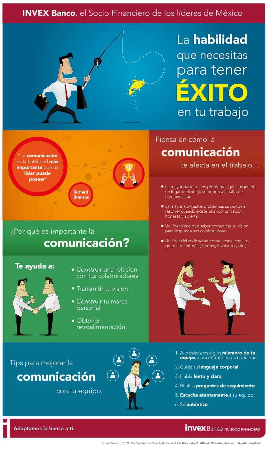 Comunicaci n la habilidad que necesitas para tener xito en tu trabajo infografia rrhh tics for Como ambientar una oficina de trabajo