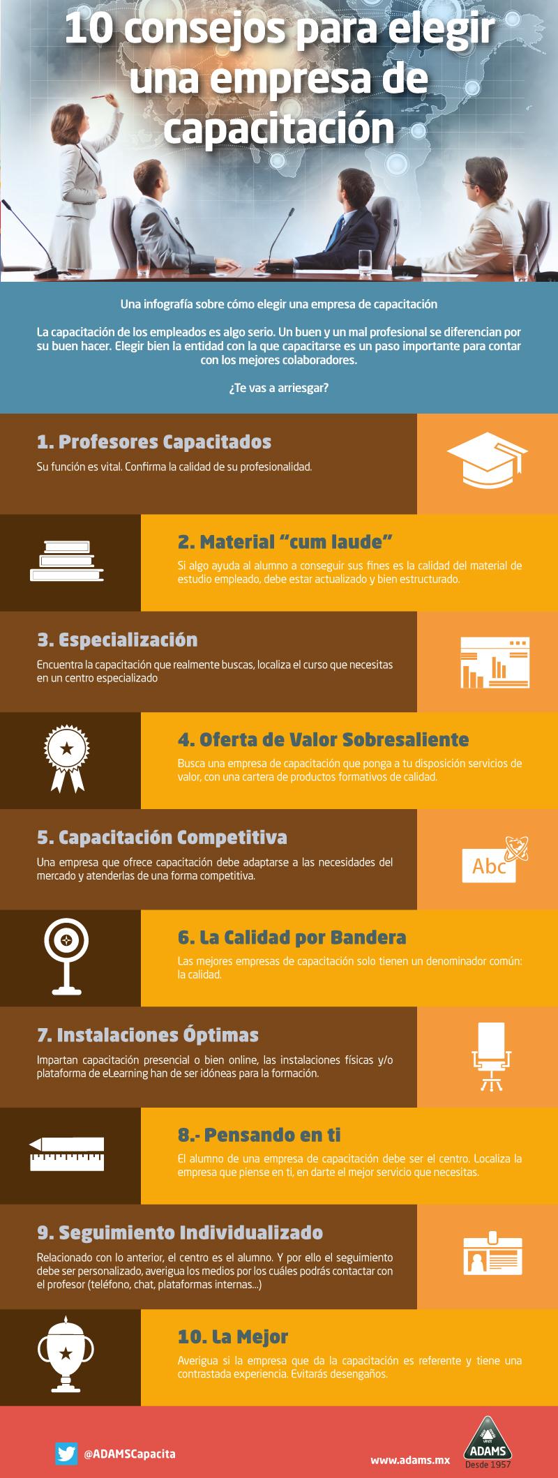 10 consejos para elegir una empresa de Formación