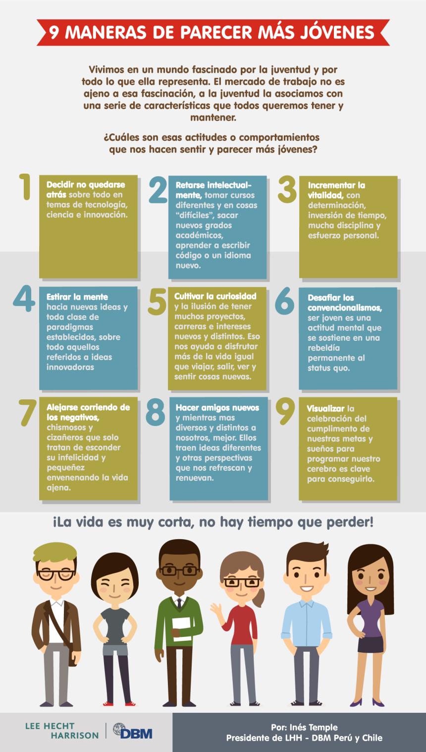 9 formas de parecer más jóvenes