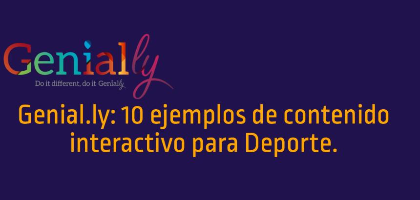 Genial.ly: 10 ejemplos de uso en Deportes