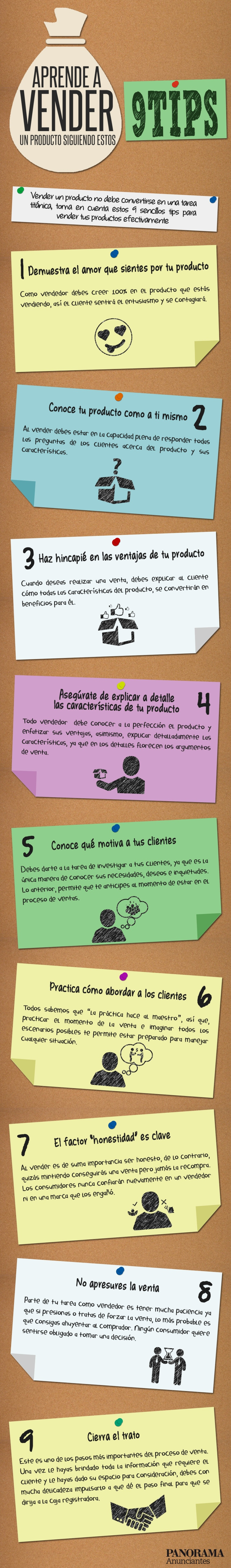 9 consejos para vender un producto