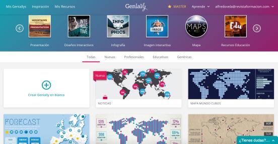 Genial.ly: 8 plantillas y 1 ejemplo de Mapas