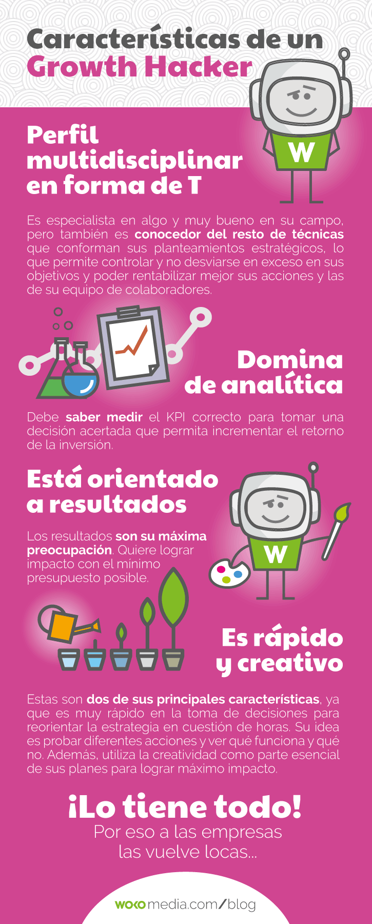 Características de Growth Hacker